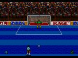 Ultimate Soccer Genesis Penalty kick screen