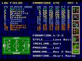 Premier Manager 97  Genesis The tactics screen. Selecting them according to the opposition and to the players available is a must.