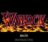 Warlock SNES Title screen.