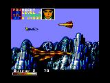 U.N. Squadron Amstrad CPC Another huge fighter jet