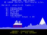 Special Delivery: Santa's Christmas Chaos ZX Spectrum Main menu