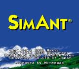 SimAnt: The Electronic Ant Colony SNES Title Screen
