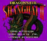Shanghai II: Dragon's Eye SNES Title Screen