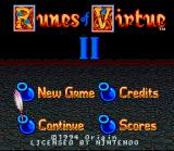 Ultima: Runes of Virtue II SNES Title Screen