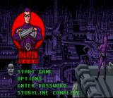 Phantom 2040 SNES Title Screen