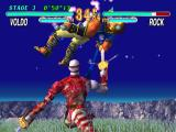 Soul Blade PlayStation Freakshow. Voldo, the token creepy guy, juggles Rock on his blades.