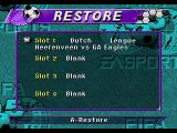 FIFA Soccer 95 Genesis Up to four games can be stored