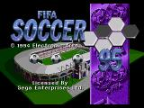 FIFA Soccer 95 Genesis Title screen