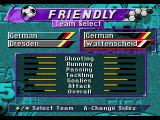 FIFA Soccer 95 Genesis Team selection