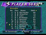 FIFA Soccer 95 Genesis Making substitutions