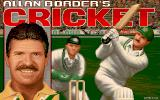 Allan Border's Cricket DOS Title Screen