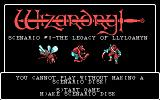 Wizardry: Legacy of Llylgamyn - The Third Scenario PC Booter Title screen