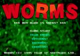 Worms Genesis Main menu