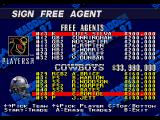 Madden NFL 97 Genesis Signing free agents