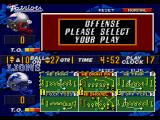 Madden NFL 97 Genesis selecting a play