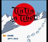 Tintin in Tibet SNES Title Screen