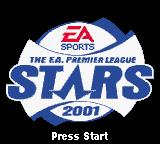 The F.A. Premier League Stars 2001  Game Boy Color Title Screen