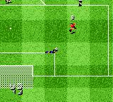 The F.A. Premier League Stars 2001  Game Boy Color He shoots, but the keeper saves.