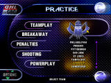 Actua Ice Hockey 2 Windows Team and mode selection