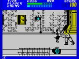 Bad Street Brawler ZX Spectrum The first confrontation
