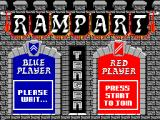 Rampart SEGA Master System Waiting for player two to join.