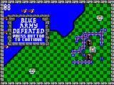 Rampart SEGA Master System Blue army defeated.