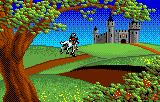 Rampart Lynx Intro: A knight rides towards his castle