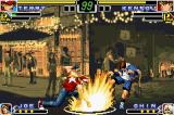 The King of Fighters EX: Neo Blood Game Boy Advance Kensou walks a lot to attack Terry, but he is suddenly stopped after be damaged by the Round Wave.