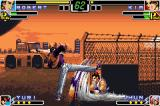 The King of Fighters EX: Neo Blood Game Boy Advance Kim attacks Robert with his Hangetsu Zan, but he quickly uses the Defense Cancel Attack to annul it.