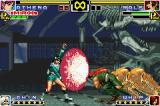 The King of Fighters EX: Neo Blood Game Boy Advance Athena Asamiya uses her Psycho Reflector as way to parry a lot of Ralf Jones' tackle-running attack.