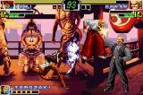 The King of Fighters EX: Neo Blood Game Boy Advance With Geese grabbed by Yamazaki, Iori has a great moment to do his DM Ura 301 Shiki: Saku Tsumagushi.