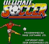 Ultimate Soccer Game Gear Title screen