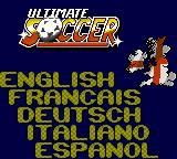 Ultimate Soccer Game Gear Choose language