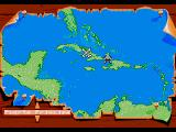 Pirates! Gold Genesis Caribbean map