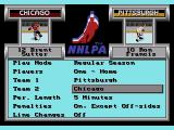 NHLPA Hockey '93 Genesis Main menu