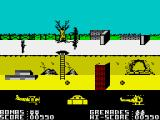 Biggles ZX Spectrum Start of the side-scrolling shooter