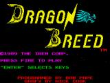Dragon Breed ZX Spectrum Main menu