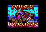 Power Drift Amstrad CPC Loading screen