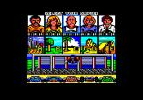 Power Drift Amstrad CPC Character and circuit selection