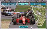 Grand Prix Unlimited DOS Main Menu