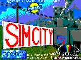 SimCity Amstrad CPC Title Screen