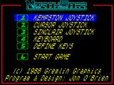 NorthStar ZX Spectrum Main menu