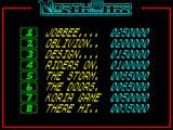 NorthStar ZX Spectrum High scores