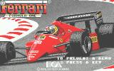 Ferrari Formula One Atari ST Title screen