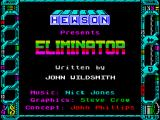 Eliminator ZX Spectrum Title screen