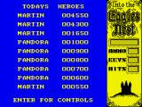 Into the Eagle's Nest ZX Spectrum High scores