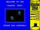 Into the Eagle's Nest ZX Spectrum Title screen