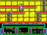Future Knight ZX Spectrum On a ladder