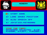 Yes Prime Minister: The Computer Game ZX Spectrum Main menu