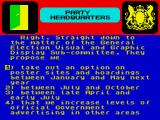 Yes Prime Minister: The Computer Game ZX Spectrum Election timing comes into a conversation